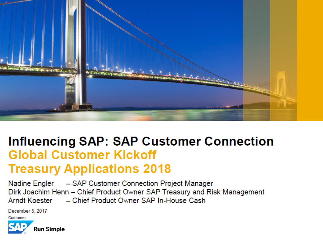 Influencing SAP: Customer Connection