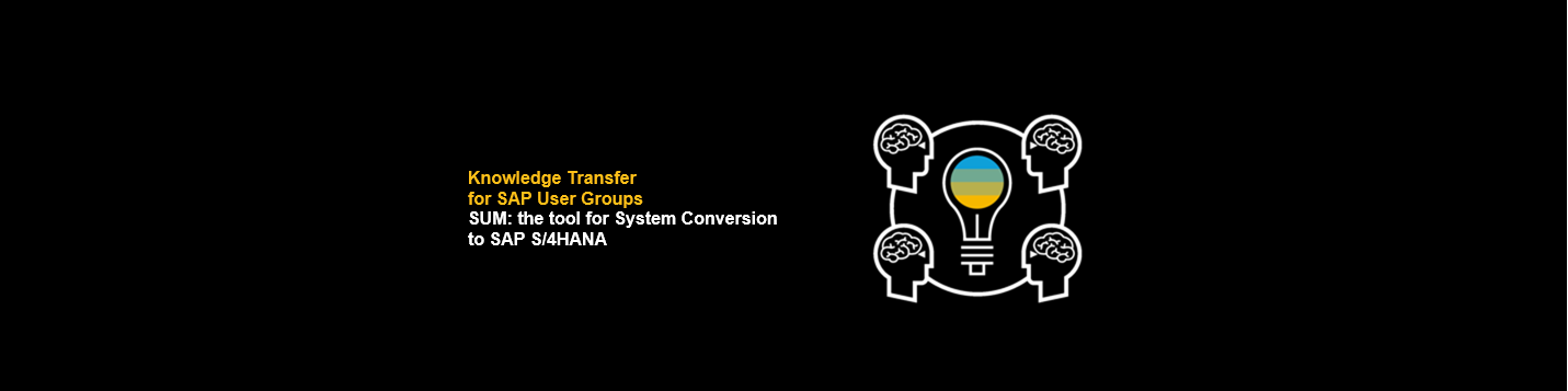 Live webinar SUM: the tool for System Conversion to SAP S/4HANA