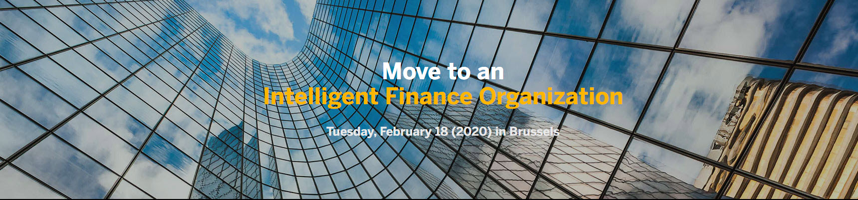 Move to an Intelligent Finance Organization