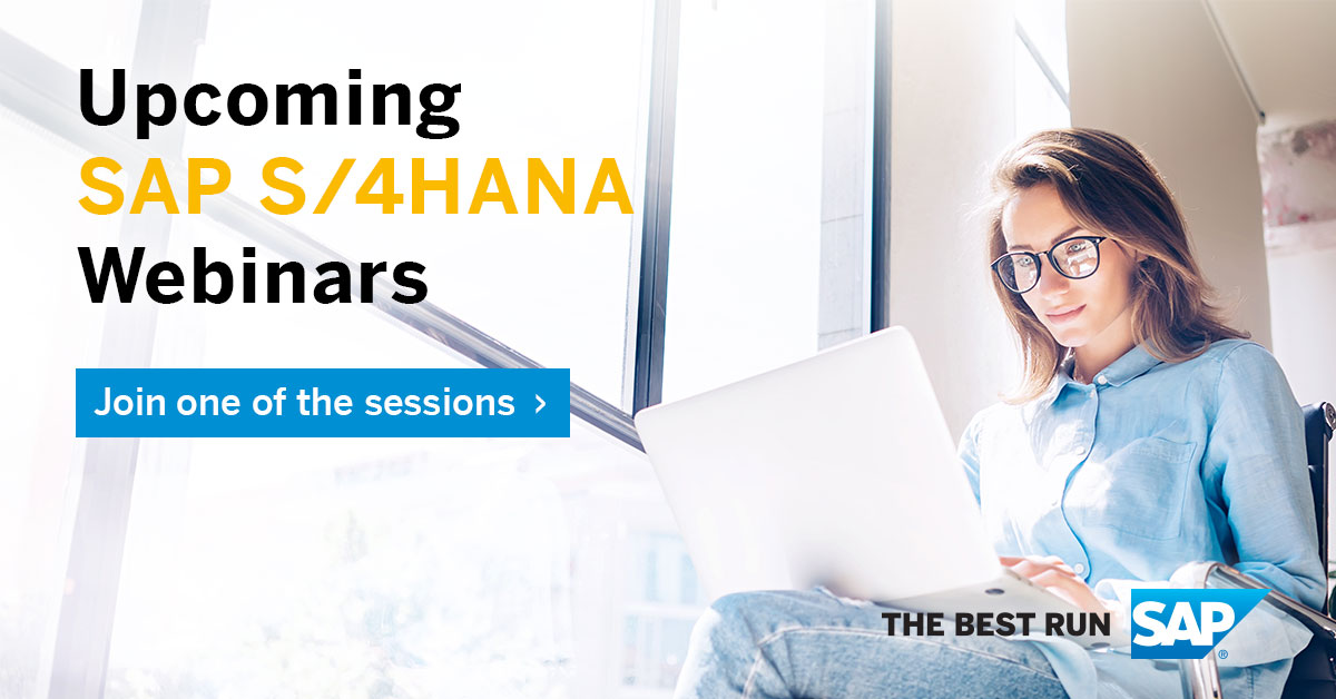 SAP webinar: 3 Tools to Leverage During Your SAP S/4HANA Journey