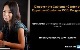 SAP webinar: Discover the Customer Center of Expertise (Customer COE) Program