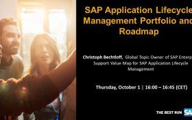 SAP webinar: SAP Application Lifecycle Management Portfolio and Roadmap