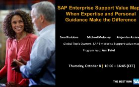 SAP webinar: SAP Enterprise Support Value Maps: When Expertise and Personal Guidance Make the Difference