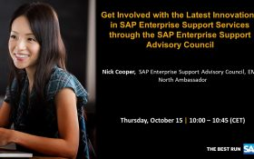 SAP webinar: Get involved with the Latest Innovations in SAP Enterprise Support Services through the SAP Enterprise Support Advisory Council